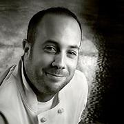 Portrait of Sous Chef at Blue Velvet a restaurant in Downtown LA