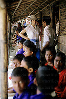 Princess Anne, The Princess Royal seen during a visit to a 'Save The Children' project near Pullakandi, Bangladesh in 1984. Photographed by Jayne Fincher