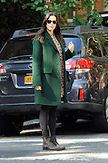 Sept. 15, 2014 - New York City, NY, United States - <br /> <br /> Pregnant actress Liv Tyler wears a big green coat as she walks in the West Village on September 15 2014 in New York City<br /> ©Exclusivepix