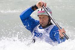 Dejan Stevanovic of Kajak klub Soske elektrarne competes in the Men's Canoe Single C-1 at kayak & canoe slalom race on May 9, 2010 in Tacen, Ljubljana, Slovenia. (Photo by Vid Ponikvar / Sportida)