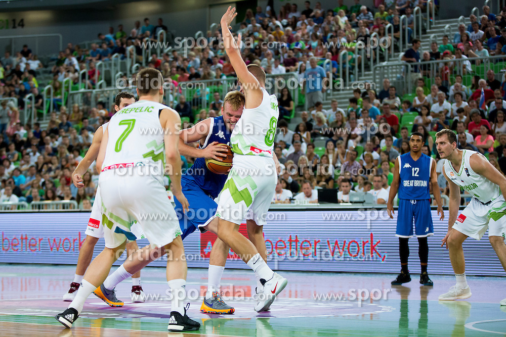 during friendly basketball match between National teams of Slovenia and G. Britain, on August 20, 2016 in Arena Stozice, Ljubljana, Slovenia. Photo by Urban Urbanc / Sportida