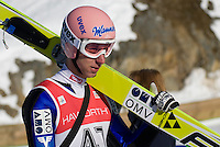 Martin Koch (AUT) competes in the World Cup Ski Jumping competition at Whistler Olympic Park on Sunday January 25, 2009