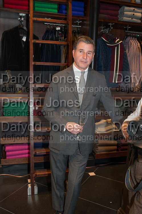 JEREMY HACKETT, Opening of new Hackett flagship store. Regent St. London. 28 November 2013.