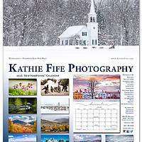 A collection of 12 of my favorite images from around NH*<br /> <br /> PHOTOGRAPHS:<br /> Wonalancet - Sandwich Sled Dog Race<br /> Pink Lady's Slipper<br /> Hillsborough Living History Event<br /> Canterbury Shaker Village<br /> Common Loon<br /> Marina in Moultonboro<br /> Franconia Notch<br /> Crawford Notch<br /> Squam Lake<br /> Strawbery Banke Museum<br /> Derby VT*<br /> Mount Washington Hotel <br /> <br /> Includes dates of the Full Moon.<br /> <br /> Calendars are flat 11x14. Comes with a wire hanger. Printed on 13 sheets of sturdy and heavy stock with a vibrant matte finish. 30% FSC Recycled Paper, Acid Free and Archival, Elemental Chlorine Free.<br /> <br /> Calendar squares allow space to write in. Each month is printed on a single page (no worries about pen impressions ruining the beautiful photographs). Save the calendar and crop out the images for framing. The acid free paper ensures they won't turn yellow over time.<br /> <br /> The exquisite calendars make an excellent gift for someone who loves New Hampshire's landscapes and historic villages. But, once you see them, it will be hard to part with it.<br /> <br /> You might want to order two!<br /> <br /> Limited quantity in stock. Order early.<br /> <br /> PROUDLY PRINTED in the USA!<br /> <br /> Ships at about 1.5# per calendar.<br /> Traditional Federal Holidays, Non-Traditional and some fun holidays.<br /> <br /> $25 each -- Cash or Check only.<br /> include $8 shipping per calendar<br /> <br /> Send check to:<br /> Kathie Fife Photography<br /> PO Box 127<br /> Canterbury NH 03224<br /> <br /> Thank you