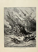 Battle of Lepanto [7 October 1571 in the Gulf of Patras The Catholic coalition defeated the Ottoman Navy] Plate XCV from the book Story of the crusades. with a magnificent gallery of one hundred full-page engravings by the world-renowned artist, Gustave Doré [Gustave Dore] by Boyd, James P. (James Penny), 1836-1910. Published in Philadelphia 1892