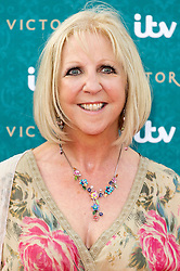 © Licensed to London News Pictures. 11/08/2016. NICHOLA MCAULIFFE attends the VIP press screening of Victoria. The ITV series traces the early life of Queen Victoria, from her accession to the throne at the tender age of 18 through to her courtship and marriage to Prince Albert.  London, UK. Photo credit: Ray Tang/LNP