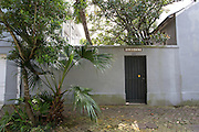 entrance to home at 1136 Barracks Street in the Treme neighborhood of New Orleans