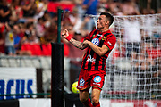 OSTERSUND, SWEDEN - JULY 21: Jamie Hopcutt of Ostersunds FK celebrates after scoring during the Allsvenskan match between Ostersunds FK and Trelleborgs FF on July 21 at Jamtkraft Arena, 2018 in Gothenburg, Sweden. Photo by Johan Axelsson/Ombrello ***BETALBILD***