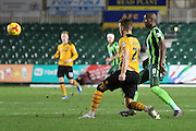 Tom Elliott of AFC Wimbledon during the Sky Bet League 2 match between Newport County and AFC Wimbledon at Rodney Parade, Newport, Wales on 19 December 2015. Photo by Stuart Butcher.