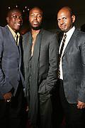 l to r: Jason Campbell, Edward Buchanan and Emil Welbkin at The VIBE Magazine & Memsor Kamarake and Beverly Smith Salute to Black Men In Fashion ? NY Fashion Week Fall ?08 held Norwood on September 11, 2008