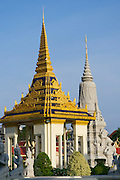Phnom Penh, Cambodia. Royal Palace. Silver Pagoda Compound.