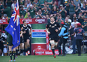 JOHANNESBURG, South Africa, 04 October 2014 : Richie McCaw (C) of the All Blacks taking the field during the Castle Lager Rugby Championship test match between SOUTH AFRICA and NEW ZEALAND at ELLIS PARK in Johannesburg, South Africa on 04 October 2014. <br /> The Springboks won 27-25 but the All Blacks successfully defended the 2014 Championship trophy.<br /> <br /> © Anton de Villiers / SASPA