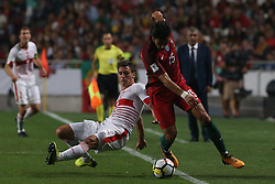 October 10, 2017 - Lisbon, Lisbon, Portugal - Portugal midfielder Andre Gomes (R) and Switzerland midfielder Steven Zuber (L) during the match between Portugal v Switzerland - FIFA 2018 World Cup Qualifier match at Luz Stadium on October 10, 2017 in Lisbon, Portugal. (Credit Image: © Dpi/NurPhoto via ZUMA Press)