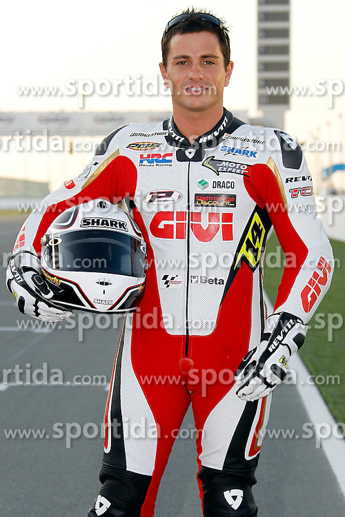 19.03.2010, Doha, Katar, QAT, MotoGP, Fahrerfotos im Bild Randy De Puniet - LCR Honda team, EXPA Pictures © 2010, PhotoCredit: EXPA/ InsideFoto/ Semedia / SPORTIDA PHOTO AGENCY