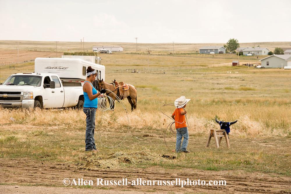 Rocky Boy Rodeo-kids-Indians-families-Rocky Boy Reservation-Montana