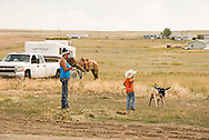 Rocky Boy Rodeo-kids-Indians-families-Rocky Boy Reservation-Montana