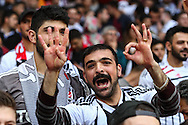 A confident Besiktas J.K. fan predicts a 0-4 scoreline before the UEFA Champions League match at the Emirates Stadium, London<br /> Picture by David Horn/Focus Images Ltd +44 7545 970036<br /> 27/08/2014
