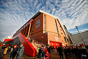 Anfield awaits the Premier League match between Liverpool and Manchester United at Anfield, Liverpool, England on 19 January 2020.