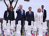 Donald Trump at the American Cemetery Colleville-sur-Mer France