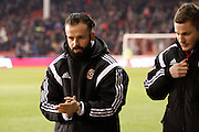 John Brayford returns to Sheffield during the Capital One Cup match between Sheffield Utd and Tottenham Hotspur at Bramall Lane, Sheffield, England on 28 January 2015. Photo by Richard Greenfield.