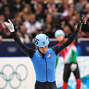 February 13, 2009 - 2010 Winter Olympics - Vancouver, Canada - Apolo Anton Ohno competes in 1500m Short Track Speed Skating preliminary competition held at the Pacific Coliseum during the 2010 Winter Olympic Games.