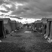 A view of the tent camp of San Ferdinando, near Rosarno, Calabria. Opened after the rebellion of migrants farmhands in 2010, it should have been temporary.