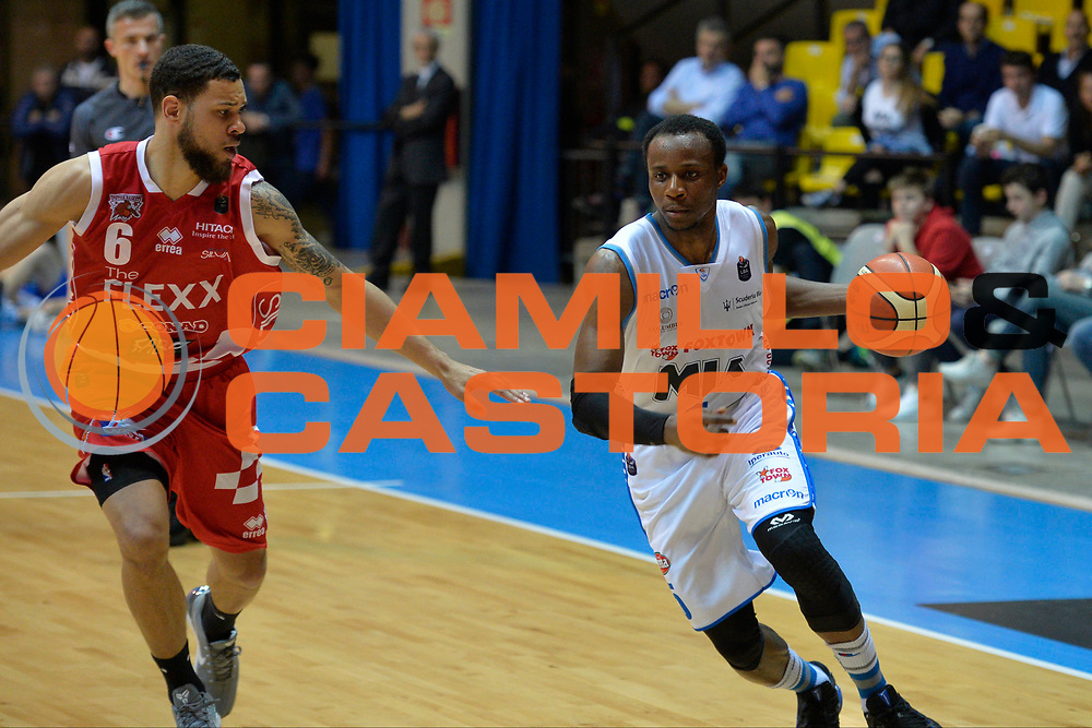 David Cournooh<br /> Red October Cantu' vs The Flexx Pistoia<br /> Lega A  2016/2017<br /> Desio 15/04/2017<br /> Foto Ciamillo-Castoria<br /> Provvisorio