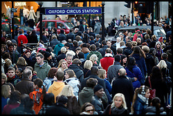 Despite fears of the Retail Industry, Oxford Street had thousands of shoppers pounding the streets for bargains, Saturday December 2,2011.  Photo by Andre Camara/ i-Images