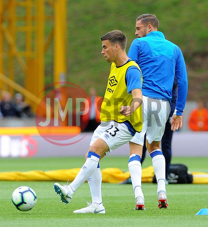 Everton players warm up - Mandatory by-line: Nizaam Jones/JMP - 11/08/2018/ - FOOTBALL -Molineux  - Wolverhampton, England - Wolverhampton Wanderers v Everton - Premier League