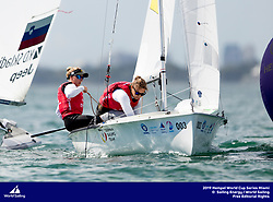 From 27 January to 3 February 2019, Miami will host sailors for the second round of the 2019 Hempel World Cup Series in Coconut Grove. More than 650 sailors from 60 nations will race across the 10 Olympic Events. &copy;PEDRO MARTINEZ/SAILING ENERGY/WORLD SAILING<br /> 03 February, 2019.
