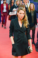 "Laura Smet poses on the red carpet before the screening of the film ""The Man from U.N.C.L.E."" during the 41st Deauville American Film Festival on September 11, 2015 in Deauville, France"