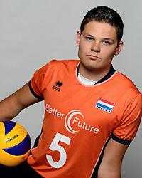 09-05-2014 NED: Selectie Nederlands zitvolleybal team mannen, Leersum<br /> In sporthal De Binder te Leersum werd het Nederlands team zitvolleybal seizoen 2014-2015 gepresenteerd / Merijn Bruine