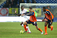 Kevin BERIGAUD / Rio MAVUBA - 07.02.2015 - Montpellier / Lille - 24eme journee de Ligue 1<br /> Photo : Andre Delon / Icon Sport