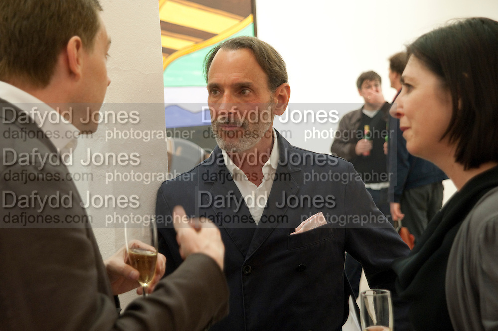 DAVID SALLE, David Salle private view at the Maureen Paley Gallery. 21 Herlad St. London. E2. <br /> <br />  , -DO NOT ARCHIVE-&copy; Copyright Photograph by Dafydd Jones. 248 Clapham Rd. London SW9 0PZ. Tel 0207 820 0771. www.dafjones.com.