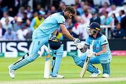 Ben Stokes of England and Liam Plunkett of England fist bump - Mandatory by-line: Robbie Stephenson/JMP - 14/07/2019 - CRICKET - Lords - London, England - England v New Zealand - ICC Cricket World Cup 2019 - Final