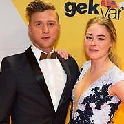 NLD/Amsterdam/20180212 - Premiere Gek op Oranje, jan Versteegh en Geraldine Kemper