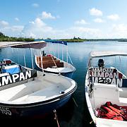 Boats in a dock. Bocas del Toro, Panama