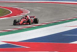 October 21, 2018 - Austin, TX, U.S. - AUSTIN, TX - OCTOBER 21: Ferrari driver Kimi Raikkonen (7) of Finland races towards turn 19 during the F1 United States Grand Prix on October 21, 2018, at Circuit of the Americas in Austin, TX. (Photo by John Crouch/Icon Sportswire) (Credit Image: © John Crouch/Icon SMI via ZUMA Press)