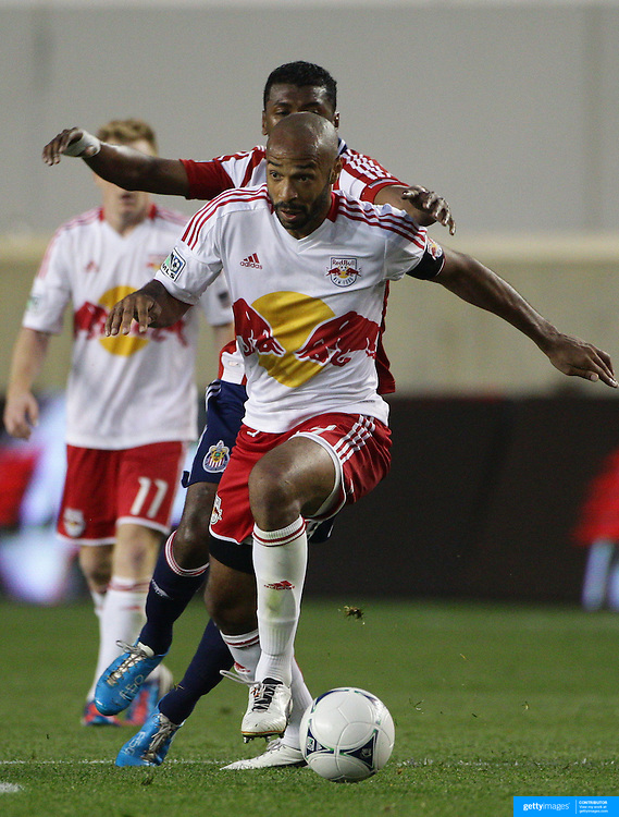 New York Red Bulls player Thierry Henry in action during the New York Red Bulls V Chivas USA Major League Soccer match at Red Bull Arena, Harrison, New Jersey, 23rd May 2012. Photo Tim Clayton