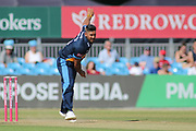 Ravi Rampaul of Derbyshire Falcons during the Natwest T20 Blast North Group match between Derbyshire County Cricket Club and Worcestershire County Cricket Club at the 3aaa County Ground, Derby, United Kingdom on 8 July 2018. Picture by Mick Haynes.