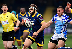 Sam Betty of Worcester Warriors of Worcester Warriors drives forward  - Mandatory by-line: Joe Meredith/JMP - 21/01/2017 - RUGBY - Sixways Stadium - Worcester, England - Worcester Warriors v Enisei-STM - European Challenge Cup