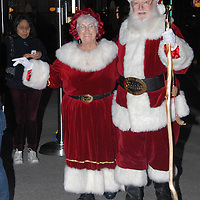 Santa Claus and Mrs Claus make a special appearance at Santa Monica Place during its musical tree-lighting celebration, called Santa Monica Shines on Saturday, November 20, 2010.