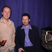 Uitreiking populariteitsprijs 2002, Edwin Evers en Carel Kraayenhof