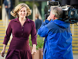 © Licensed to London News Pictures. 03/10/2017. Manchester, UK. Home secretary AMBER RUDD seen on day three of the Conservative Party Conference. The four day event is expected to focus heavily on Brexit, with the British prime minister hoping to dampen rumours of a leadership challenge. Photo credit: Ben Cawthra/LNP