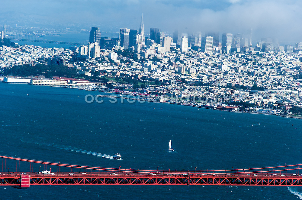 San Francisco City and the Golden Gate Bridge