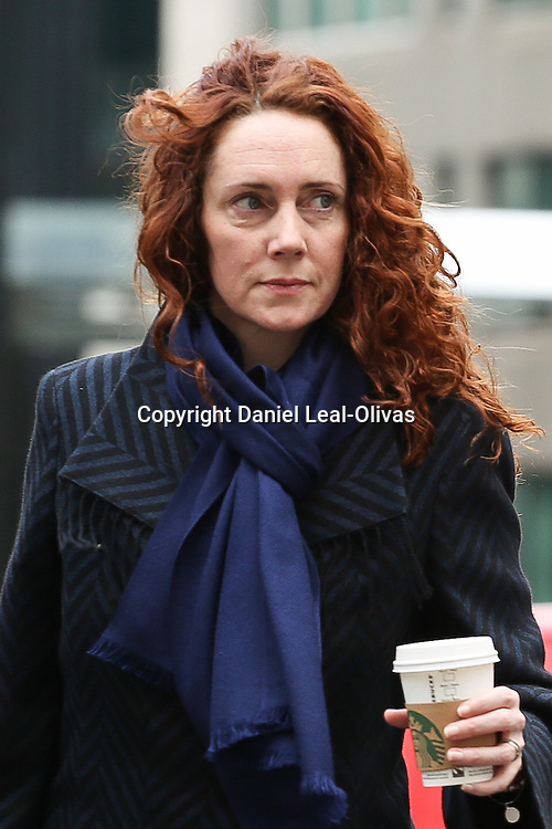 Phone hacking trial. Former Editor of the News of the World Rebekah Brooks arrives at the Old Bailey to continue giving evidence in the Phone hacking trial London, United Kingdom. Friday, 28th February 2014. Picture by Daniel Leal-Olivas / i-Images