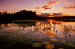 Summer sunset on English Lake in northern Wisconsin Summer sunset on English Lake in northern Wisconsin
