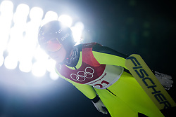 February 12, 2018 - Pyeongchang, SOUTH KOREA - 180212 Jacqueline Seifriedsberger of Austria competes in Ski Jumping, Women's Normal Hill Individual Final, during day three of the 2018 Winter Olympics on February 12, 2018 in Pyeongchang..Photo: Joel Marklund / BILDBYRÃ…N / kod JM / 87619 (Credit Image: © Joel Marklund/Bildbyran via ZUMA Press)