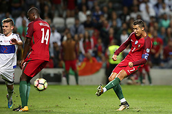 August 31, 2017 - Porto, Portugal - Portugal's forward Cristiano Ronaldo shoots to score during the 2018 FIFA World Cup qualifying football match between Portugal and Faroe Islands at the Bessa XXI stadium in Porto, Portugal on August 31, 2017. (Credit Image: © Pedro Fiuza/NurPhoto via ZUMA Press)