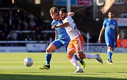 Alex Woodyard of Peterborough United battles with Liam Feeney of Blackpool - Mandatory by-line: Joe Dent/JMP - 29/09/2018 - FOOTBALL - ABAX Stadium - Peterborough, England - Peterborough United v Blackpool - Sky Bet League One